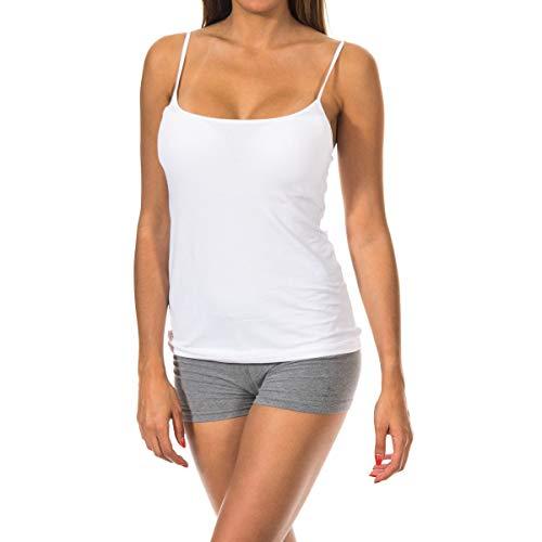 JANIRA Camiseta de Tirante Day Cotton - Blanco, G-L