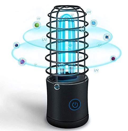 Esterilizador de Luz UVC Lámpara de Desinfección Portátil Purificador de Aire de Mano Varita Led Anti Bacteriana Ultravioleta para el Hogar área de Mascotas Oficina Hotel Coches (Rosado, UVC+Ozono)
