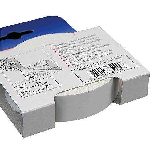 Kantenumleimer für Möbelbauplatten und Regalbretter Weiß 5 m x 20 mm