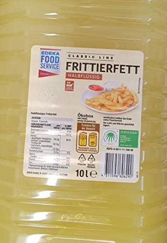 Öl Topkauf Frittierfett halbflüßig 10l PET Flasche