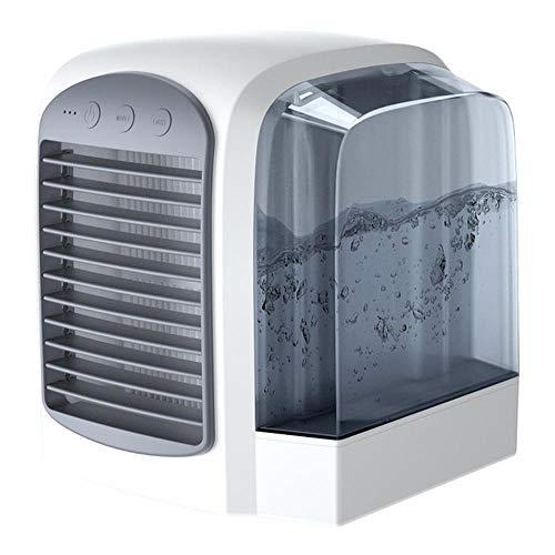 HZLQ Personal Cooler Air Mini Aire Acondicionado Portátil LED Ventilador De Mesa Silencioso para Ministerio del Interior Ventilador Ambientalmente Amigable -Cool Y Refrescante White
