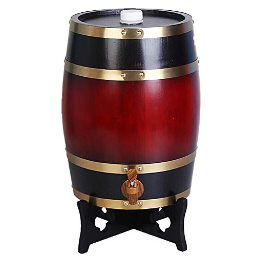 KOUJ 20L Vertical Barril Almacenamiento De Vino para Cognac Ron Sangria Licor Cerveza Envejecida Dispensador,B