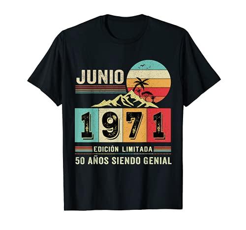 Nacido en junio de 1971 50 Años Cumpleaños Hombre Regalo Camiseta