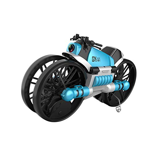 ZhaoZC Land-Air Deformation Motorcycle Folding Aircraft, WiFi Aerial Photography Drone Two-in-One Remote Control Children's Toy Airplane