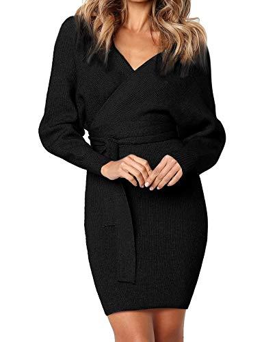 Kate Kasin Sexy Cocktail Wrap V Neck Long Sleeve Pencil Sweatshirt Dress...