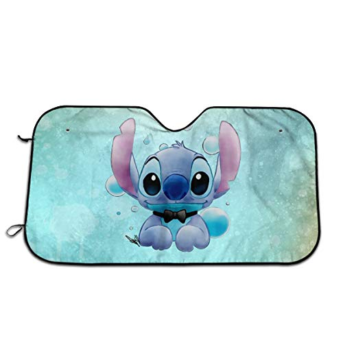 Bargburm Car Windshield Sunshade,Lilo Stitch Front Auto Car Windshield Sun Shade,Keep Vehicle Cool Protect Your Car from Sun Heat