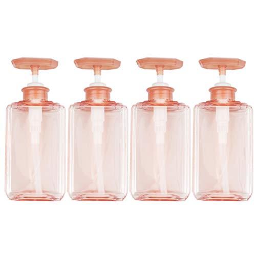 Garneck Leere Pumpensprühflaschen 500Ml Nachfüllbare Handseifenflaschen Spender Reinigungsmittel Gel Lotionen Shampoo Behälter für Badezimmerreisen 4St