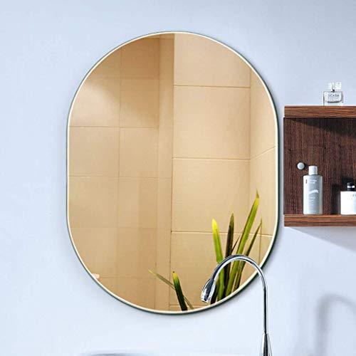 GJJSZ Espejo de baño,Inodoro Colgante de Pared,Espejo de tocador de baño,sin Marco,5 mm,instalación de Gancho,tamaño 4