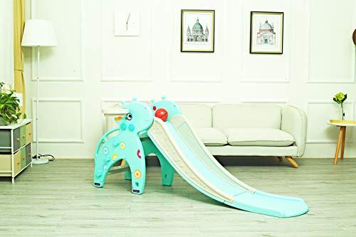 Image of Genivation Indoor Slide for Toddler Outdoor Freestanding Slide Backyard Climber and Slide with Ring Toss Game