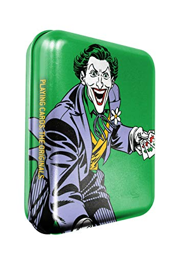 Cartamundi Dc Comics, The Joker Carte da Gioco in Astuccio di Latta Goffrata, Colore Metal, 108223924