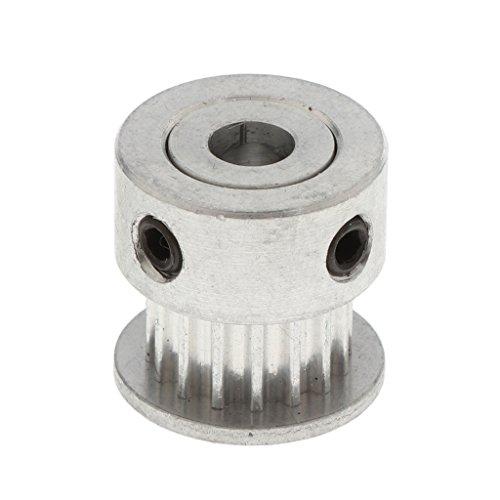 D DOLITY Extruder Drive Gear Getrieberad Antriebszahnrad Zahnradgetriebe für 3D-Drucker Zahnriemen Innendurchmesser : 3mm - Silber 5mm