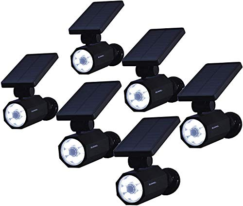 Bell+Howell Bionic Spotlight Deluxe LED Solar Lights Solar-Powered Spot Light with 25 Feet Motion Sensor Outdoor Waterproof Frost Resistant Yard Outdoor Lighting As Seen On TV Set of 6