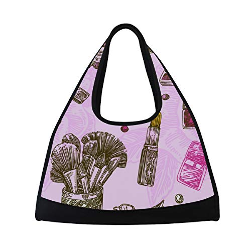 NISENASU Sporttasche,Schönes Muster Kosmetikpinsel polnisch,Neue Sport Reisetaschen Tennisschläger Rucksack Badminton Kurze Reisetaschen tragbare Umhängetasche (20×6.7×18.5 inch)