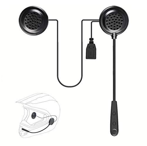 EJEAS E1 Auriculares para Casco de Motocicleta con Bluetooth 4.1, Manos Libres, Control de Ruido, Música Control de Llamada, Moto Casco Auricular Altavoces
