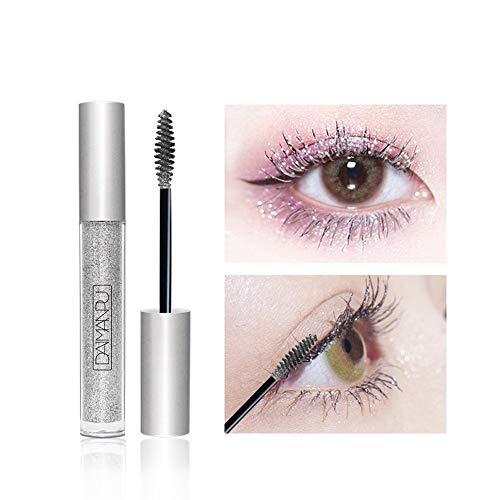 Mascara Crème pour les Cils Anti-Taches Mousseux Diamant Brillant Charme Volume Étanche Cils Extension Maquillage Soie Greffe Croissance Fluide Professionnel