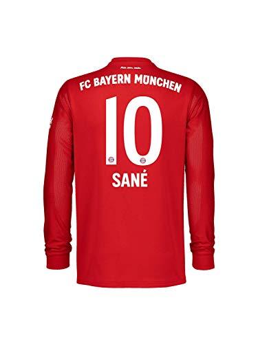 FC Bayern München Kinder Home-Trikot Langarm Saison 2020/21, Gr. 140, Leroy Sané