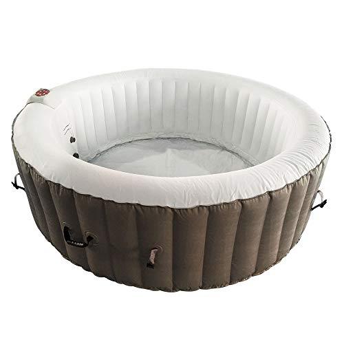 ALEKO HTIR6BRW Hot Tub Spa with Cover