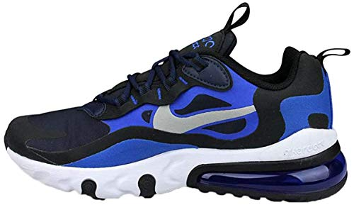Nike Sneaker Air Max 270 React (GS) Navy Blau Silber (38)