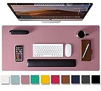Aothia テーブルマット、デスクパット、マウスパッド 91 cm x 43 cm PVC レザー、ラップトップマット滑り止め 防水 オフィスや自宅用 (パープル,L)