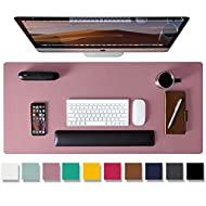 """Leather Desk Pad Protector,Mouse Pad,Office Desk Mat, Non-Slip PU Leather Desk Blotter,Laptop Desk Pad,Waterproof Desk Writing Pad for Office and Home (Purple,31.5"""" x 15.7"""")"""