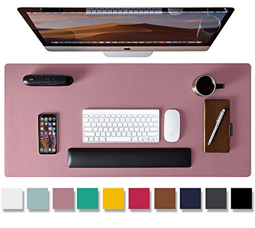 Aothia Schreibtischunterlage,PU-Leder-Schreibtischmatte,Mauspad,rutschfester Schreibtischschutz,wasserdichter Schreibtisch-Schreibblock für Büro und Zuhause(80cm x 40cm, Lila)