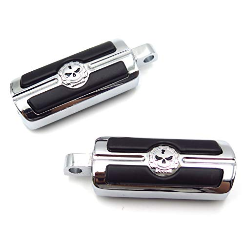HTTMT - For Harley-Davidson Motorcycle Touring Male Peg Mount Pair Skull Foot Pegs Rest [P/N: MT216-051-CD-XIN]