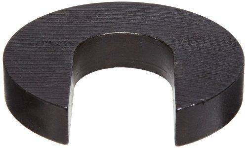 Steel Slotted Washer, Black Oxide Finish, #4 Hole Size, 0.406