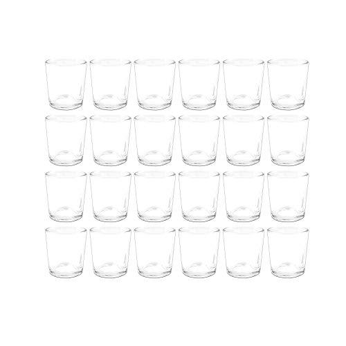 Sandra Rich Teelichtglas 24er Set PROMO klar H. 7cm Ø 5,5cm