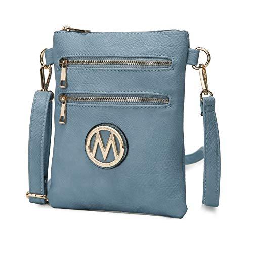 """Get Ready for Compliments on Your Medina Designer Bag! Fashionable crossbody bag for women that's also highly functional. This small bag has a big impact with rich gold tone hardware, and a fashionable """"M"""" emblem. Three Bags in One: Clutch, Purse, an..."""