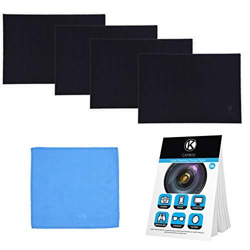 """Camkix Conjunto de Limpieza y Protector de Microfibra - Compatible con Apple MacBook Pro (15-16"""") – 4X Protectores de Teclado, 1x Paño de Doble Cara y 1x Paquete de Papeles de Limpieza de Lentes"""