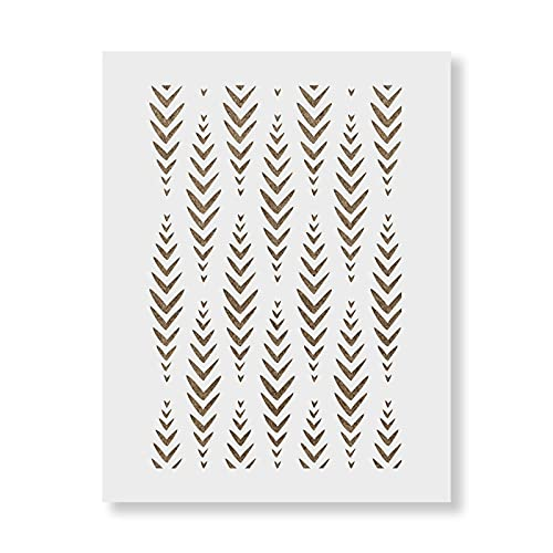 Jambo Dash Pattern Wall Stencil - DIY Wallpaper Alternative - Easily Brighten Up Your Home with This Reusable Wall Pattern Stencil