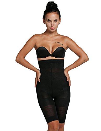 Asatr Women's High Waist Thigh Slimmer Shapewear Fat Burning Slimming Body Shaper Bodysuit Plus Size Pants