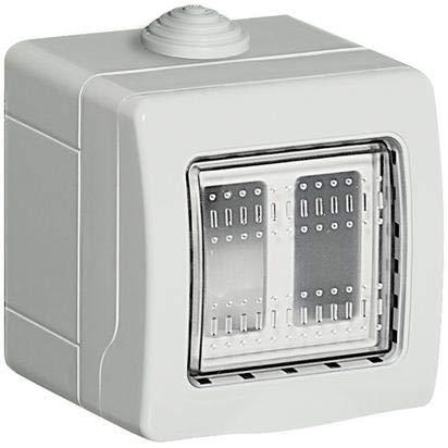 BTicino S25502E Custodia per Esterno, Bianco, 2 Moduli