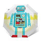 Regenschirm Taschenschirm Kompakter Falt-Regenschirm, Winddichter, Auf-Zu-Automatik, Verstärktes Dach, Ergonomischer Griff, Schirm-Tasche, Spielzeugroboter Wohnung