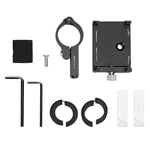 Wear- PRO1 Soportes para teléfonos Inteligentes de aleación de Aluminio Alta robustez y Durabilidad Motocicleta Bicicleta Navegar Accesorios de Soporte para Entretenimiento en el hogar(Black)