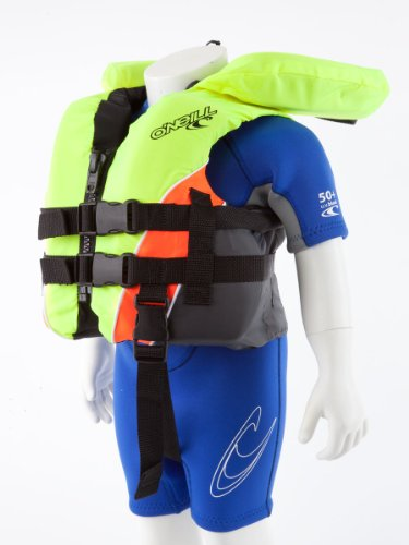 O'NEILL Superlite USCG Nylon Infant Life Vest Neon Yellow/neon Orange/Coal