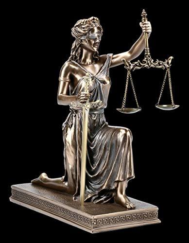 Unbekannt Kniende griechische Göttin Justitia Figur mit Brieföffner Veronese | Deko-Figur Deko-Artikel Mythologie H 25,5 cm