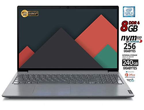 Notebook Lenovo SSD Cpu Intel Core I3 da 2,0 GHz, Display Full Hd Led da 15,6' Ram 4Gb DDR4, SSD M2 256GB+HD 500 GB Dvd-Cd, Wifi, Lan,Bt,Win10 Pro ,Suite Office, Pronto All'uso,Garanzia Italia