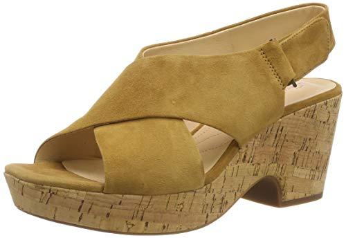 Sandalia amarilla de pulsera para mujer
