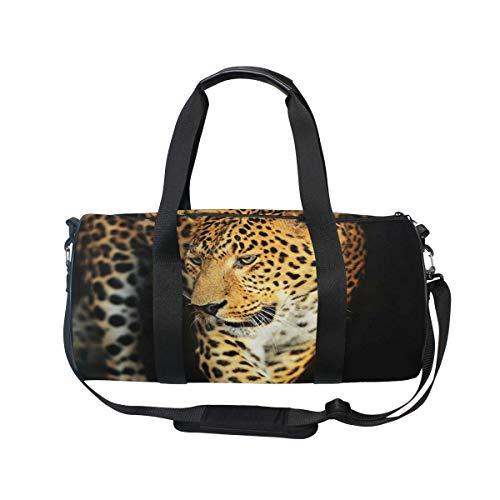 MNSRUU Reisetasche mit Leopardenmuster, groß, für Reisen, für Reisen, Unisex, hohe Kapazität, großes Gepäck