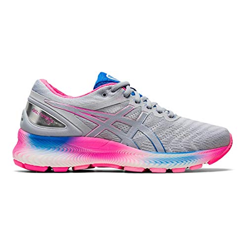 ASICS Women's Gel-Nimbus Lite Running Shoes, 13M, White/Piedmont Grey