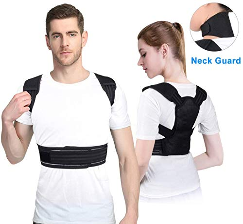 QXXNB Geradehalter Zur Haltungskorrektur Für Damen Und Herren - Rückenstabilisator Con Magnetischer Nackenschutz | Haltungsbandage | Rückenstützgürtel | Rückenbandage Für Eine Aufrechte K.