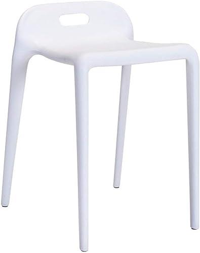 WANG LIQING Creative Moderne Salle à Manger Chaise Simple Chaise en Plastique Chaise de réception Maison Tabouret Restaurant Reste Tabouret (Couleur   blanc)