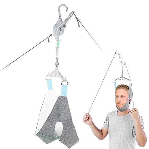 Kit de tracción cervical sobre la puerta Dispositivo de tracción para el cuello Cuello de camilla Dolor en el hombro Resistencia ortopédica