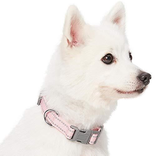 Umi. Essential Pastel - Collar para Perros M, Cuello 37-50 cm, Collares Ajustables para Perros (Rosa bebé)