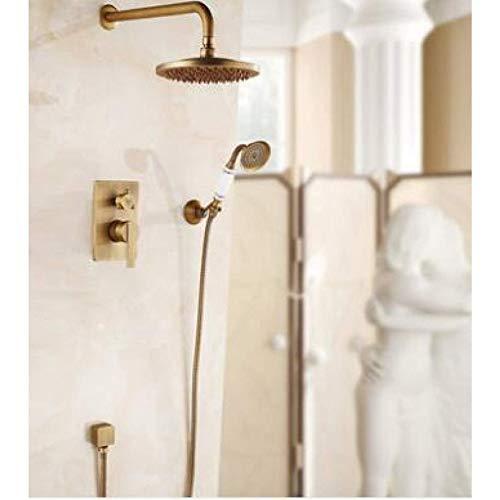Zixin Waschtischmischer Armaturen, Küchenarmaturen, an der Wand befestigten Dusche-Satz Badewanne Duschsystem Antike Bronze Öl Schutt Bronze Finished inall Bad Dusche mit Kalt- und Warm