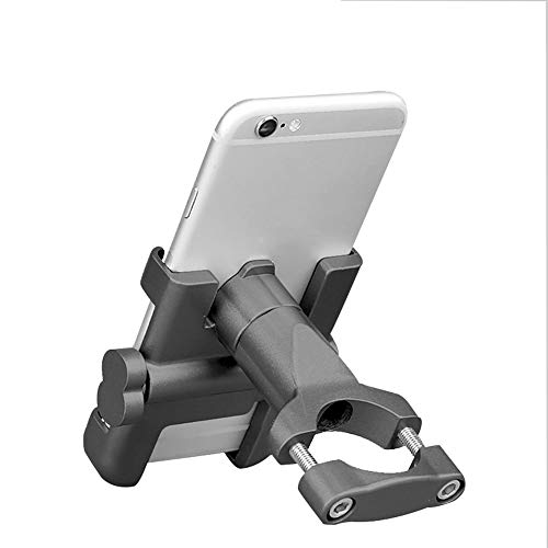 JTBH Bike & Motorcycle Phone Mount Aluminum Alloy Phone Base Mountain Bike Universal Mobile Phone Holder 360° Rotation Adjustable Suitable for Any Smartphone with 4.0'-6.5'