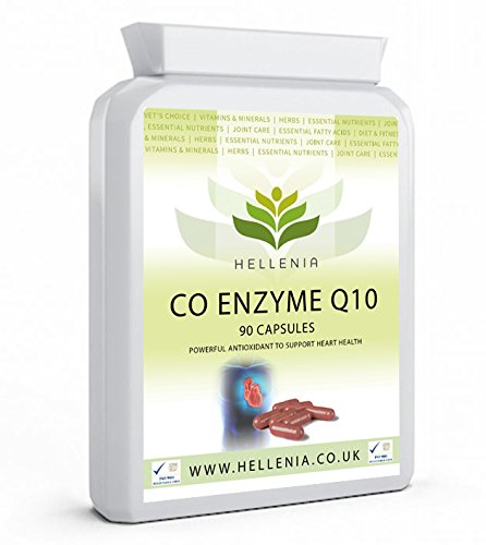 Hellenia CoEnzyme Q10-100mg CoQ10 Supplement | 90 High Absorption Capsules | Powerful Antioxidant | Supports Heart Health | Easy-Swallow Capsules