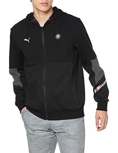 PUMA BMW MMS Hooded Sweat Jacke, Herren, Schwarz, XL