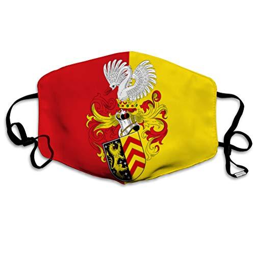 Walnut Cake Gesichtsschutz für den Außenbereich Komfortable wiederverwendbare Mundschutzflagge von Hanau in Hessen Deutschland Polyesterabdeckungen